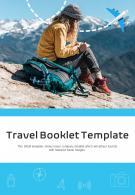 Bi Fold Travel Booklet Template Document Report PDF PPT One Pager