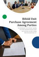 Bi Fold Unit Purchase Agreement Among Parties Document Report PDF PPT Template One Pager