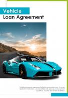 Bi Fold Vehicle Loan Agreement Document Report PDF PPT Template One Pager