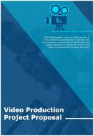 Bi Fold Video Production Project Proposal Document Report PDF PPT Template One Pager