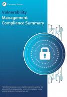 Bi Fold Vulnerability Management Compliance Summary Document Report PDF PPT Template