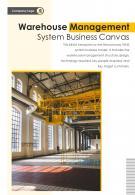 Bi Fold Warehouse Management System Business Canvas Document Report PDF PPT Template