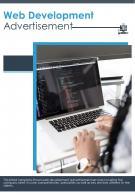 Bi Fold Web Development Advertisement Document Report PDF PPT Template