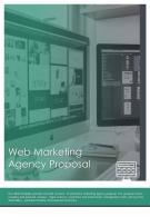 Bi Fold Web Marketing Agency Proposal Document Report PDF PPT Template