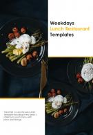 Bi Fold Weekdays Lunch Restaurant Templates Document Report PDF PPT Template One Pager