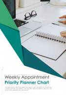 Bi Fold Weekly Appointment Priority Planner Chart Document Report PDF PPT Template One Pager