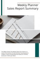 Bi Fold Weekly Planner Sales Summary Document Report PDF PPT Template