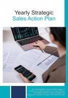 Bi Fold Yearly Strategic Sales Action Plan Document Report PDF PPT Template One Pager