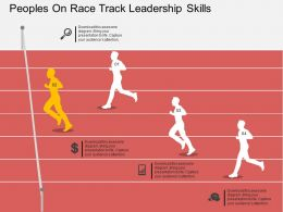 bi Peoples On Race Track Leadership Skills Flat Powerpoint Design