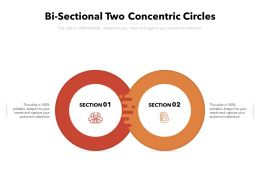 Bi Sectional Two Concentric Circles