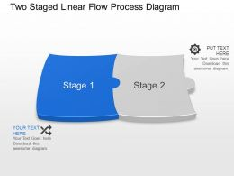 Bi Two Staged Linear Flow Process Diagram Powerpoint Template Slide