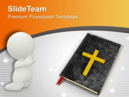 Bible And Cross Background Faithful PowerPoint Templates PPT Backgrounds For Slides 0113