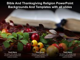 Bible And Thanksgiving Religion Backgrounds And Templates With All Slides Ppt Powerpoint