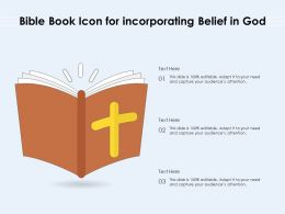 Bible Book Icon For Incorporating Belief In God