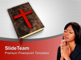 Bible Cross Christianity Spirituality PowerPoint Templates PPT Backgrounds For Slides 0113