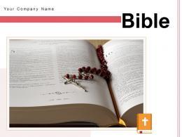 Bible Cross Circle Forehead Bookmark Inside