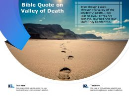 Bible Quote On Valley Of Death