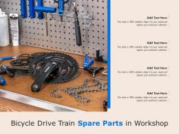 Bicycle Drive Train Spare Parts In Workshop