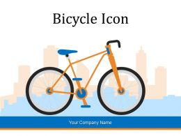 Bicycle Icon Circle Travelling Mountain Time Fitness