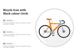 Bicycle Icon With Black Colour Circle