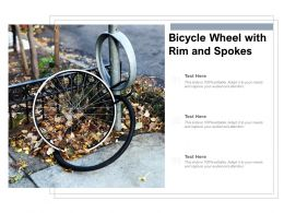 Bicycle Wheel With Rim And Spokes