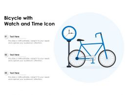 Bicycle With Watch And Time Icon