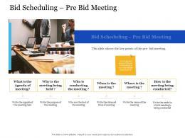 Bid Management Analysis Bid Scheduling Pre Bid Meeting Ppt Powerpoint Presentation Mockup