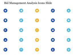 Bid Management Analysis Icons Slide Ppt Powerpoint Presentation Infographic Template Slide
