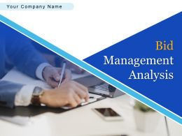 Bid Management Analysis Powerpoint Presentation Slides