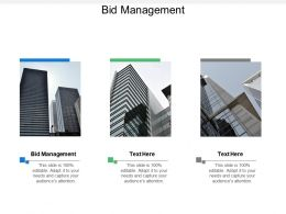 Bid Management Ppt Powerpoint Presentation File Template Cpb
