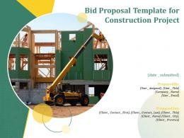 Bid Proposal Template For Construction Project Powerpoint Presentation Slides