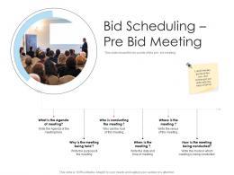 Bid Scheduling Pre Bid Meeting Tender Management Ppt Topics