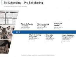 Bid Scheduling Pre Bid Meeting Tender Response Management Ppt Powerpoint Presentation Gallery