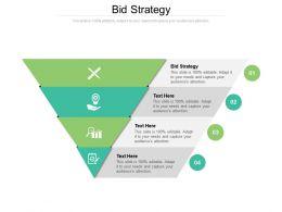 Bid Strategy Ppt Powerpoint Presentation Show Microsoft Cpb