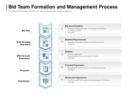 Bid Team Formation And Management Process