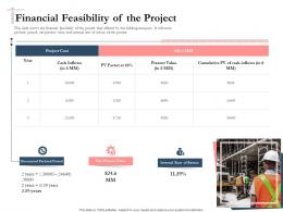 Bidding Comparative Analysis Financial Feasibility Of The Project Ppt Inspiration