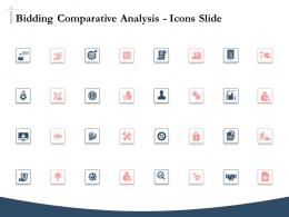 Bidding Comparative Analysis Icons Slide Ppt Powerpoint Presentation Ideas