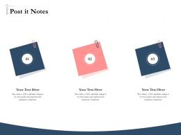 Bidding Comparative Analysis Post It Notes Ppt Powerpoint Presentation Show Model