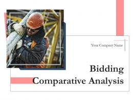 Bidding Comparative Analysis Powerpoint Presentation Slides