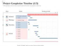 Bidding Comparative Analysis Project Completion Timeline Add Ppt Powerpoint Visual