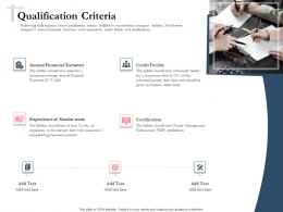 Bidding Comparative Analysis Qualification Criteria Ppt Powerpoint Presentation File