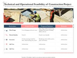 Bidding Comparative Analysis Technical And Operational Feasibility Of Construction Project Ppt Show