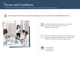 Bidding Comparative Analysis Terms And Conditions Ppt Powerpoint Presentation Styles