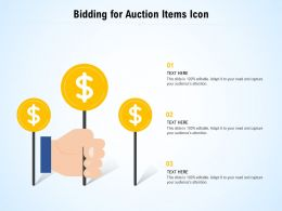Bidding For Auction Items Icon