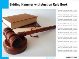 Bidding Hammer With Auction Rule Book