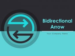 Bidirectional Arrow Continuous Movement Direction Management Marketing Business Strategy