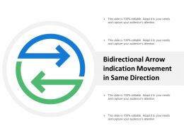 Bidirectional Arrow Indication Movement In Same Direction
