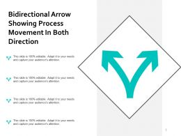 Bidirectional Arrow Showing Process Movement In Both Direction