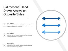 Bidirectional Hand Drawn Arrows On Opposite Sides