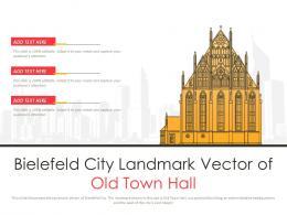 Bielefeld City Landmark Vector Of Old Town Hall Powerpoint Presentation PPT Template